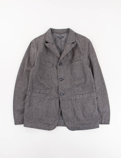 Grey Salt And Pepper Twill Bedford Jacket