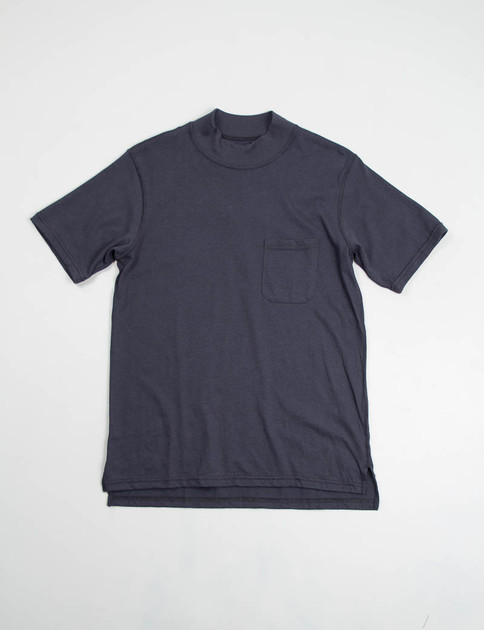 Navy T–Shirt Jersey High Crew Tee
