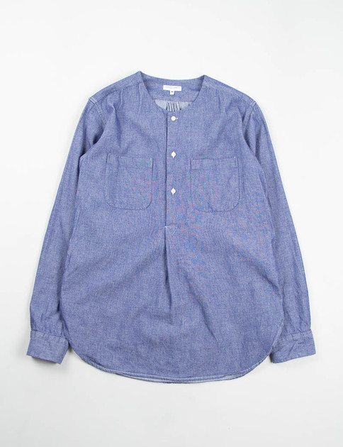 Indigo Cotton Dungaree Cloth Irving Shirt