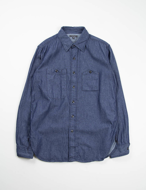 Indigo 6oz Denim Work Shirt