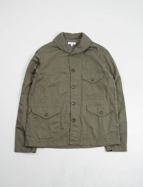 Olive French Twill Shawl Collar Jacket