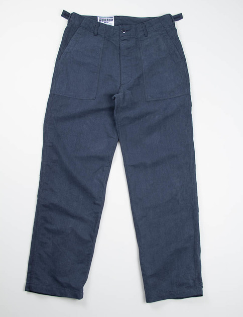 Navy Bedford Cord Fatigue Pant