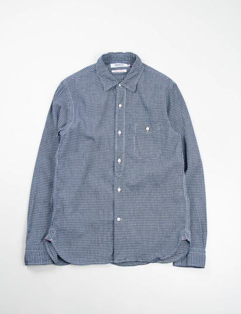 Dark Indigo Check Classic Work Shirt