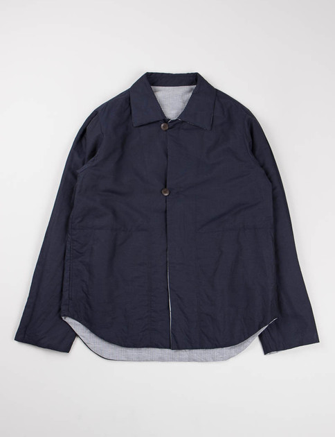 Navy Padded Reversible Shirt Jacket
