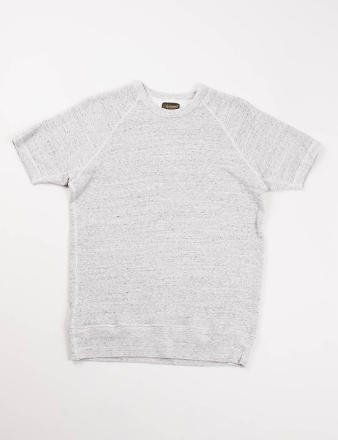 Grey Lightweight S/S Raglan Warm–Up Sweat