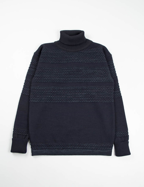 Flash Black Fisherman Sweater