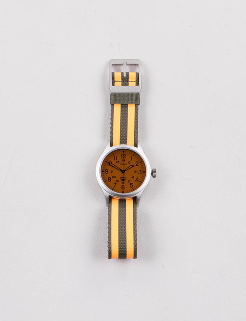 Steel/White w/ Green/Orange Strap Scout Brook Watch