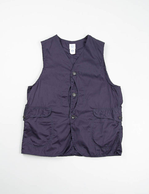 Navy HBT Shirting Royal Traveler Vest