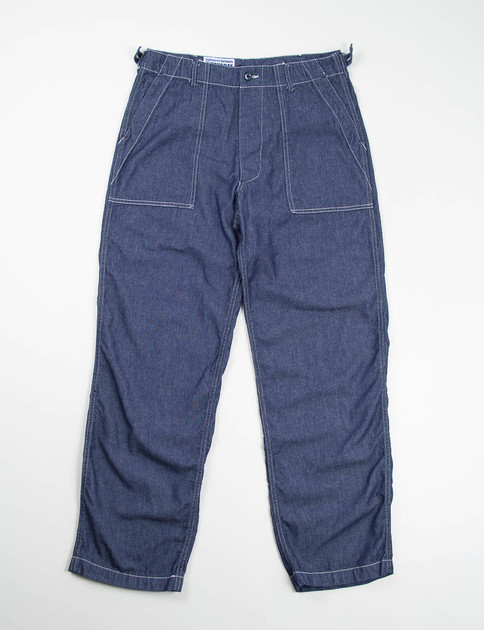 Navy 6oz Denim Fatigue Pant