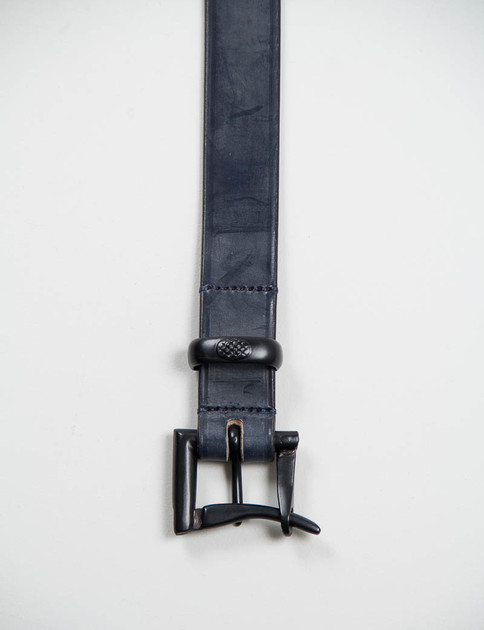 Black Leather Navy EP Quick Release Belt