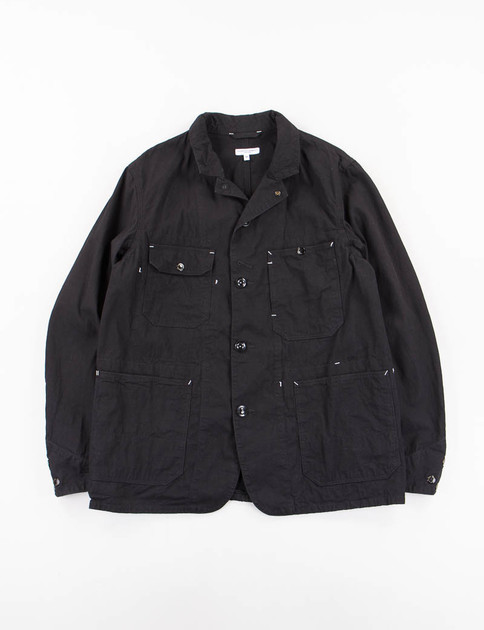 Black 7.5oz Slub Denim Coverall Jacket