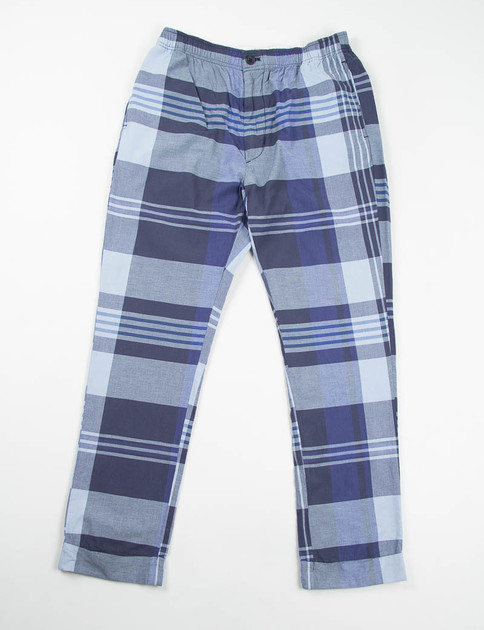 Navy/Blue Big Plaid Charles Pant