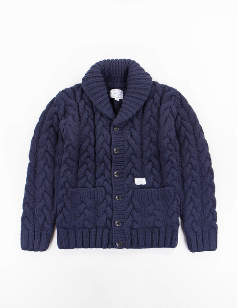 Navy Fisherman W–Cardigan