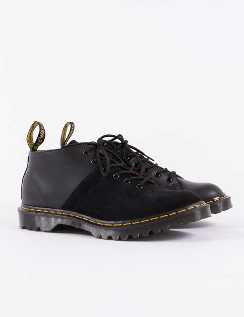 Black EG X DM Smooth Leather & Repello Calf Suede Church Boot