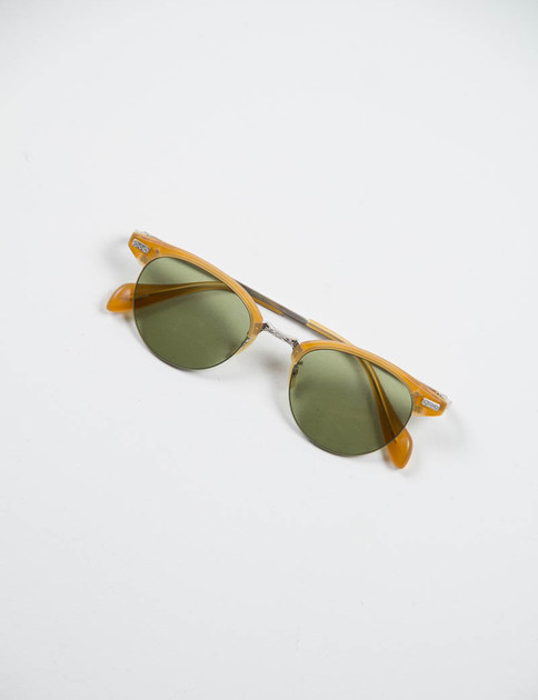 Matte Amber Tortoise/Brushed Silver Executive II Sunglasses