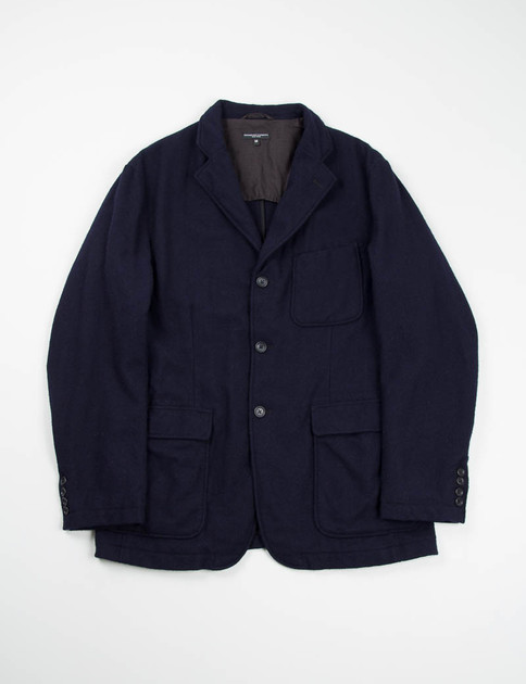 Dark Navy 13oz Wool Flannel Baker Jacket