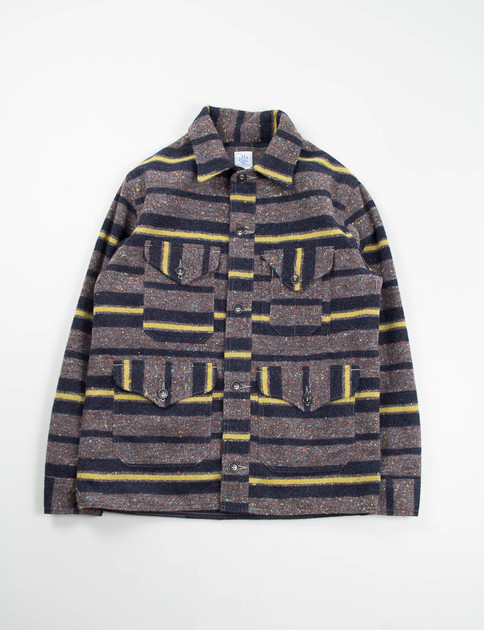 Grey/Yellow Trashed Wool Cruzer Jacket