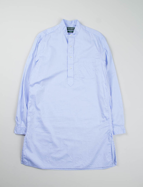 Blue Light Oxford Long Banded Collar Shirt