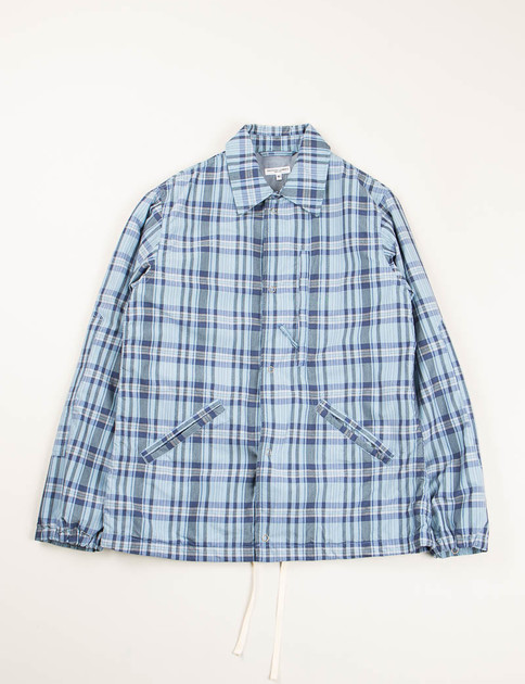 Light Blue/Navy NyCo Plaid Ground Jacket