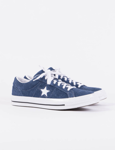 Navy/White Premium Suede One Star '74