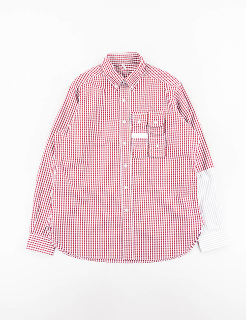 Wine Gingham Check G.P.3 Shirt