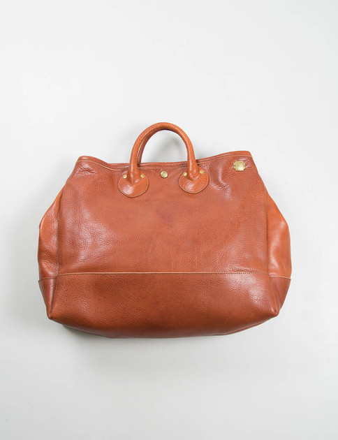 Brown Leather Boston Bag