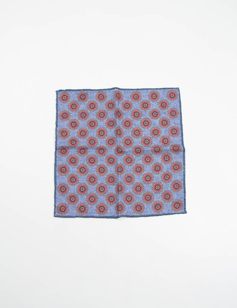 Blue Floral Pattern Pocket Square