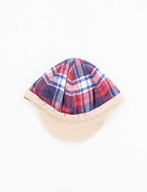 Red Check Sports Cap