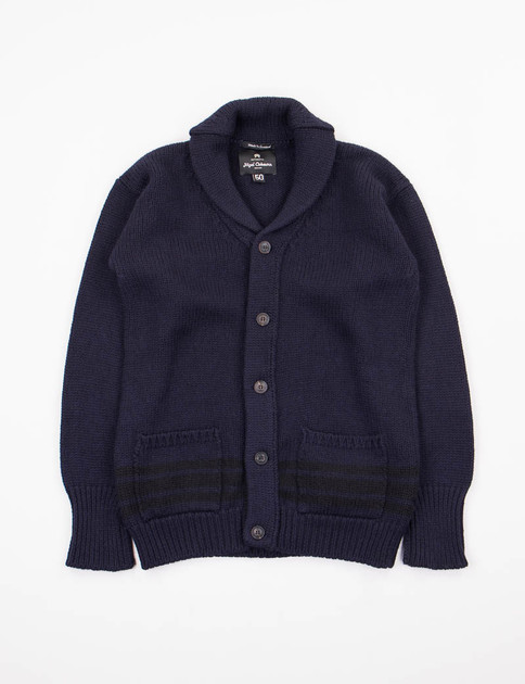 Navy/Black Oversized Cardigan