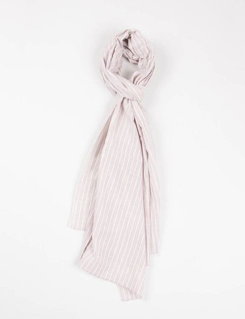 Blue/Beige Indian Striped Khadi Stole