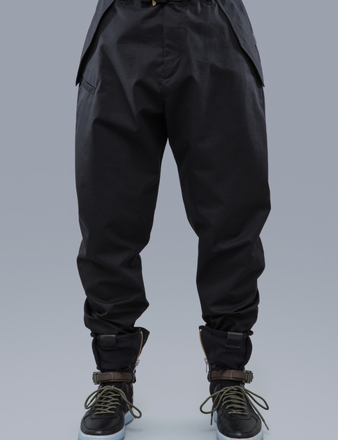 P24–S Black HD Gabardine Articulated Trouser