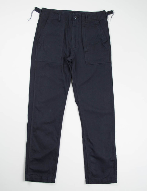 Black 10oz Bull Denim Fatigue Pant