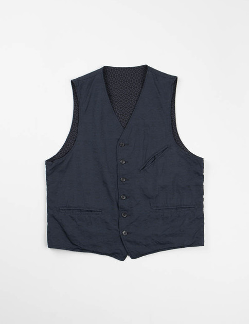 Dark Navy Java Cloth Reversible Vest