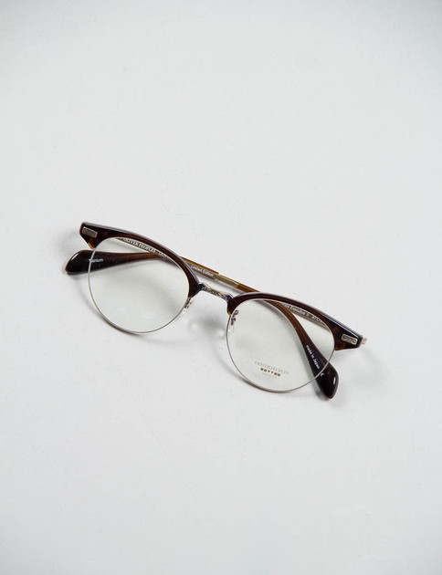 Espresso/Antique Gold Executive II Optical Frame