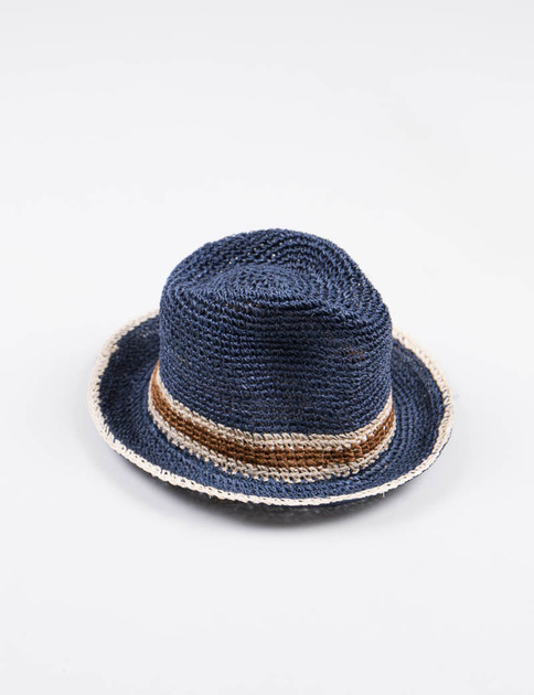 Navy Abaca Hat