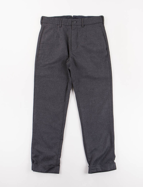 Dark Grey Worsted Heavy Wool Andover Pant