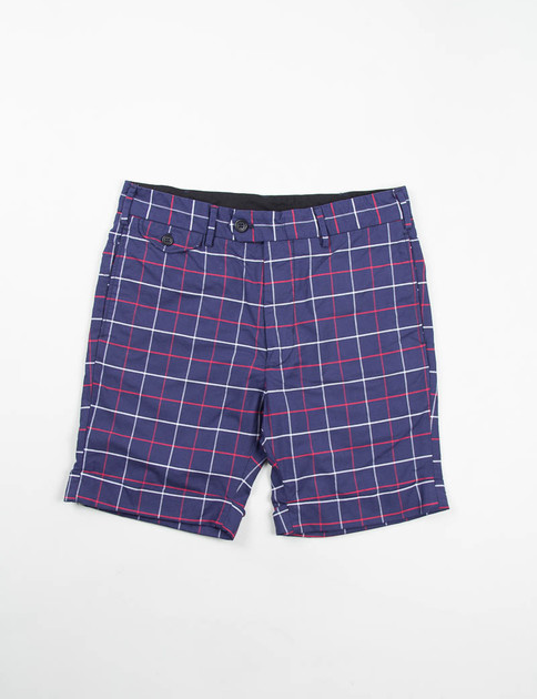 Navy/Red/White Windowpane Cambridge Short