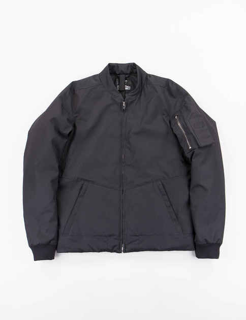 J50–S Black HD Gabardine Climashield Bomber Jacket