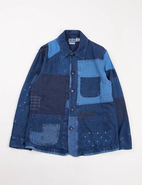 Indigo Hand Patchwork Coverall Jacket
