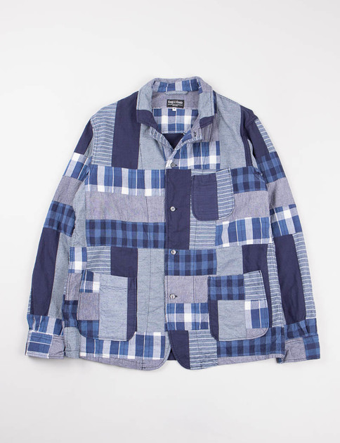 Indigo Multi Patchwork Shirt Jacket