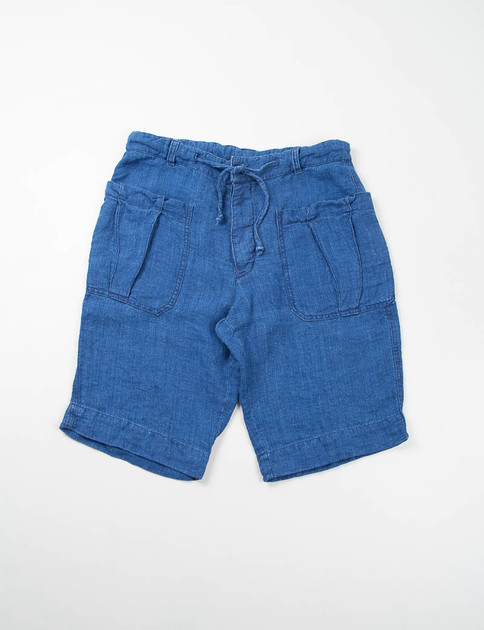 Indigo Linen Canvas Olona Shorts