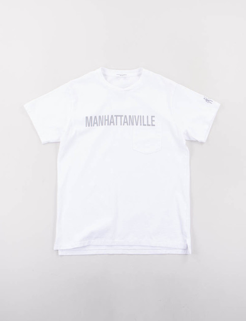 White Manhattanville Printed T–Shirt