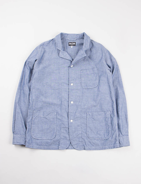 Indigo Oxford Denim Shirt Jacket