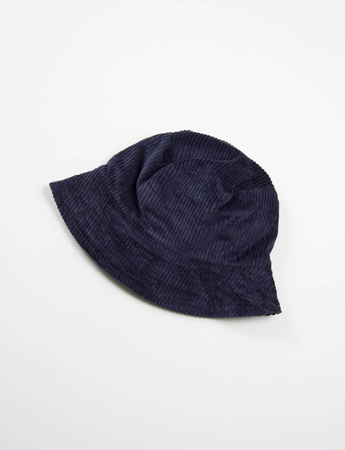 Navy 6W Corduroy Bucket Hat