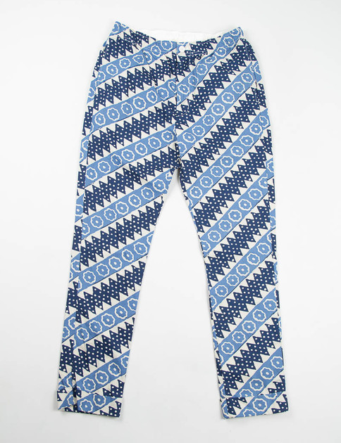 Light Blue Batik Diagonal Stripe Charles Pant