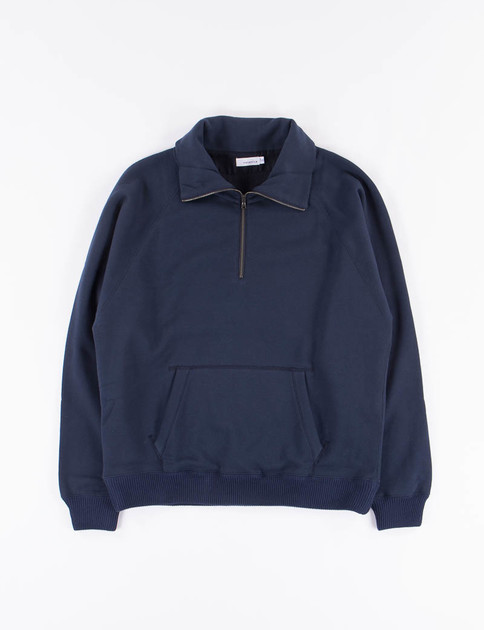 Navy Zip Turtle Sweat