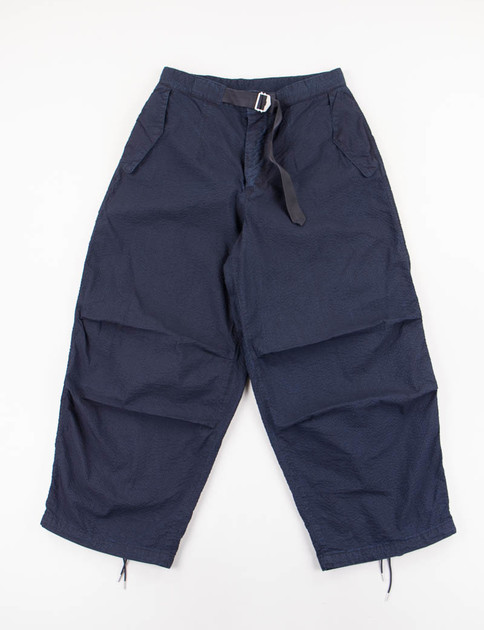 Navy Seersucker Military Pant