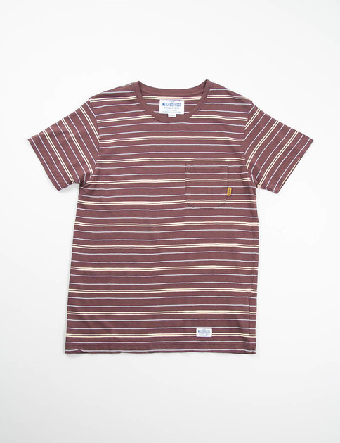 Brown O.S. Border Crew T–Shirt