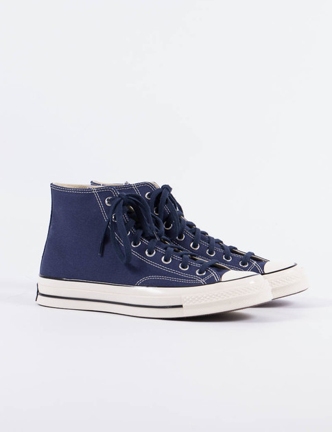 Midnight Navy Vintage Canvas Chuck Taylor All Star 70s Hi