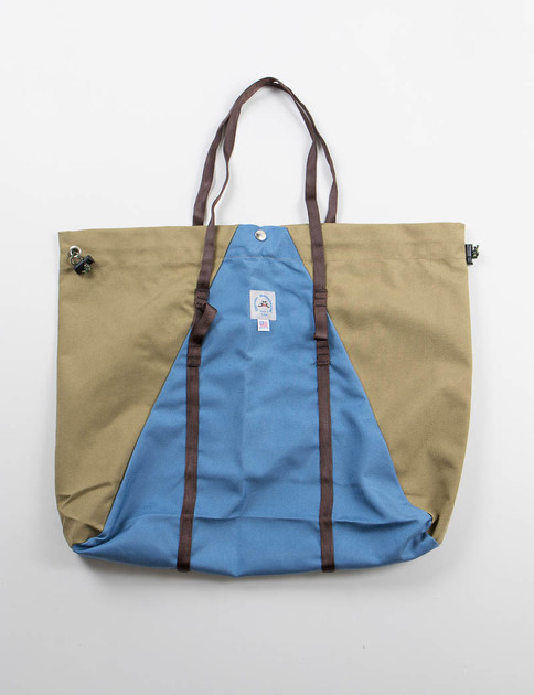 Blue Skies/Khaki Large Camp Tote